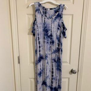 Pinkblush Cold Shoulder Maxi Dress